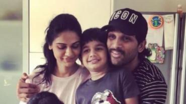 Sneha, Allu Ayaan and Allu Arjun