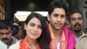 Samantha and Naga Chaitanya visit Tirupati ahead of Majili release. See pics
