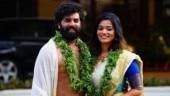 Malayalam actor Sunny Wayne marries Renjini in Guruvayoor. See pics