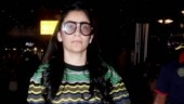 Maanayata Dutt spells fashion fiasco in multicoloured top and pants at airport. See pics