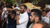 Veeru Devgan funeral: Ajay Devgn and family bid final goodbye. See pics