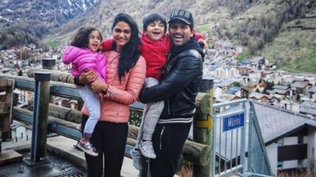 Allu Arha, Sneha, Ayaan and Allu Arjun