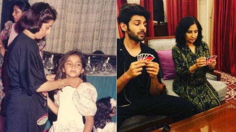 Sonam Kapoor and Kartik Aaryan shared these adorable pictures with their mothers.