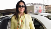 Narendra Modi swearing-in: Hema Malini flashes 1000 Watt smile on way to Delhi