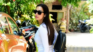 Malaika Arora outside her gym Photo: Yogen Shah
