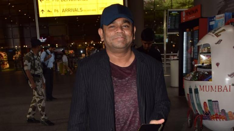 AR Rahman at the airport after attending Cannes Photo: Yogen Shah