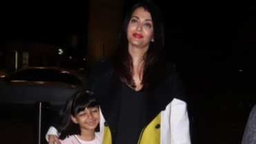 Aishwarya Rai Bachchan with aaradhya leave for Cannes 2019 Photo: Yogen Shah