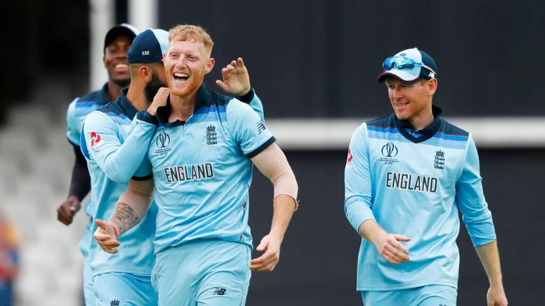 Ben Stokes shone in his World Cup debut with an all-round performance to fire England to a 104-run win over South Africa (AP Photo)