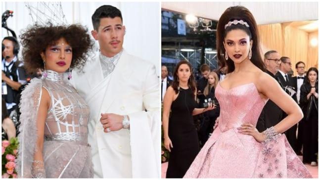 Priyanka Chopra, Nick Jonas and Deepika Padukone at Met Gala 2019