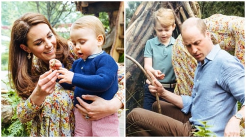 Kate Middleton and Prince William with their kids
