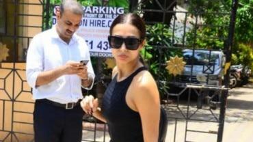 Malaika Arora outside her gym Photo: Yogen Shah