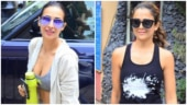 Malaika Arora in sports bra and tights is fashionista at the gym. Sister Amrita is there too