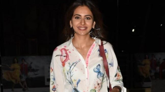 Rakul Preet in sheer top Photo: Yogen Shah