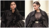 Sonam Kapoor turns into an ethnic goddess in all-black sheer anarkali for new photoshoot. See pics