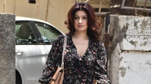 Twinkle Khanna steps out in a floral mini dress for day out Photo: Yogen Shah
