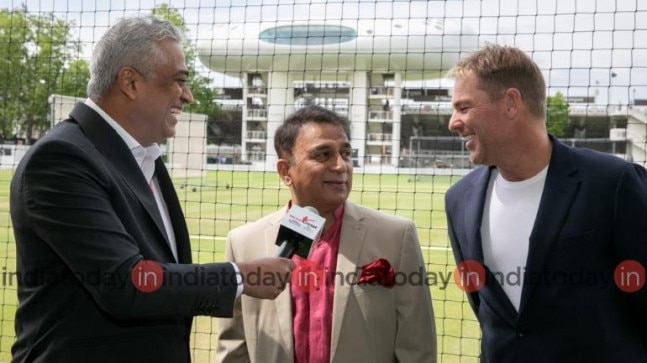 Shane Warne, Sunil Gavaskar talk to India Today's Consulting editor Rajdeep Sardesai. (India Today Photo)