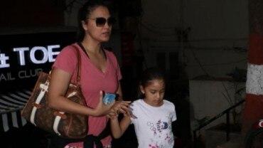 Lara Dutta with daughter Saira Bhupathi. Photo: Yogen Shah