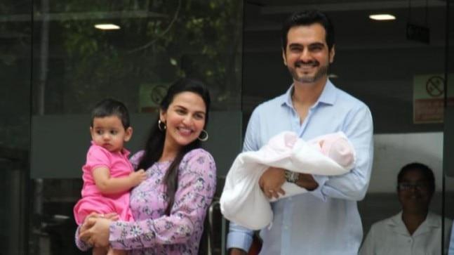 Esha Deol and Bharat Takhtani with their newborn Miraya Takhtani