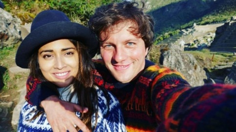 Shriya Saran and Andrei Koscheev in Machu Picchu