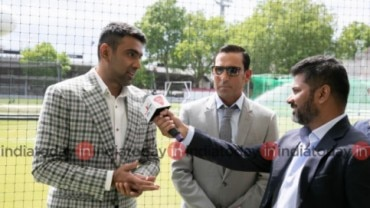 Ravichandran Ashwin speaking at the India Today conclave.