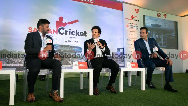 Wasim Akram and Sachin Tendulkar speak at the Salaam Cricket 2019