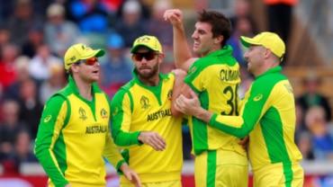 Australian Team celebrates emphatic win over Pakistan