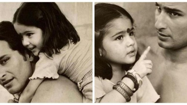 On Father's Day, Sara Ali Khan took to social media and shared a series of adorable photos with dad Saif Ali Khan.