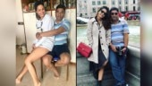 Hina Khan goofs around with daddy dear on Father's Day. See fun pics