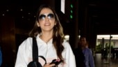 Isha Koppikar does athleisure right in tracksuit and Rs 70k bag at airport with daughter. See pics