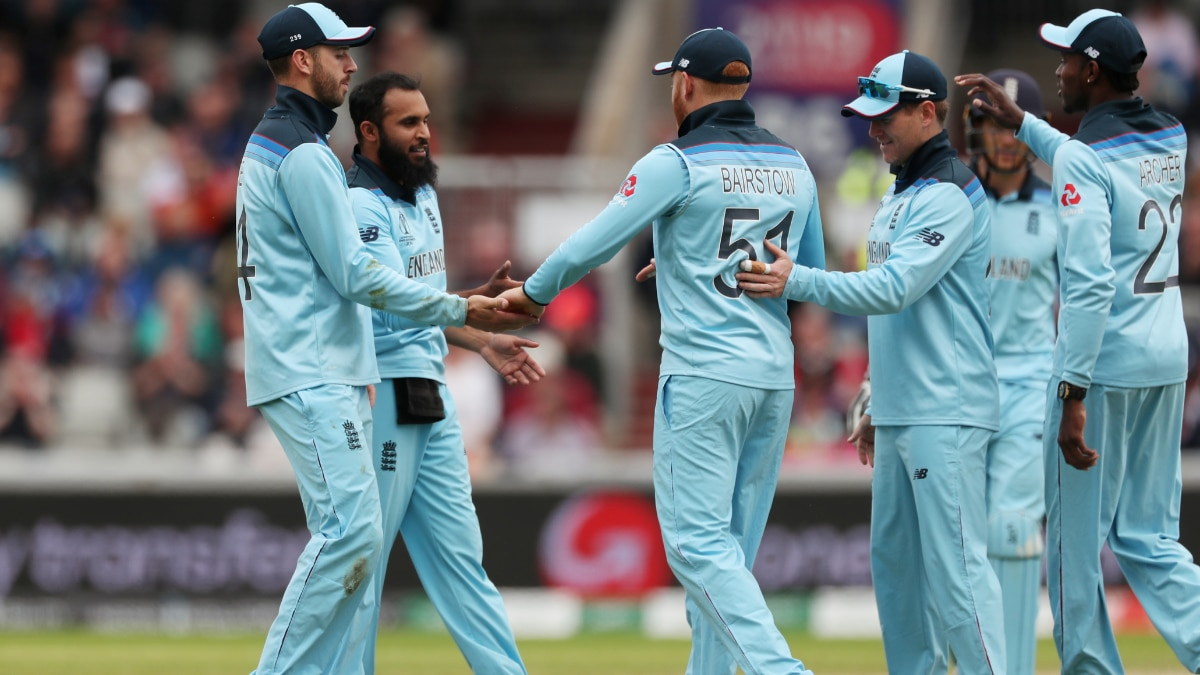 England players celebrate comfortable win over Afghanistan.(Reuters Photo)