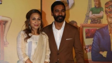 Aishwarya and Dhanush at trailer launch of The Extraordinary Journey Of The Fakir