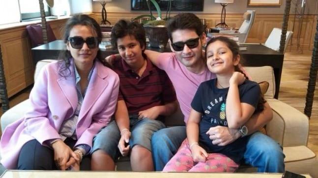 Namrata Shirodkar, Gautham, Mahesh Babu and Sitara