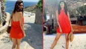 Karishma Tanna is raising temperature on internet with her hot pics from Greece