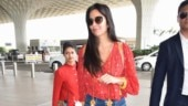 Katrina Kaif makes heads turn in plunging neckline top and flare pants at airport. See pics