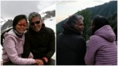 Milind Soman and Ankita Konwar spend a cosy romantic vacay in snowy Himachal. See pics