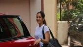 Mira Rajput keeps her gym look simple in basic tee and tights. See pics