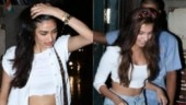 Athiya Shetty twins with Tara Sutaria on dinner date in crop top and denim with Rs 1.3 lakh bag