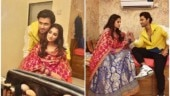 Dipika Kakar spends priceless moments with hubby Shoaib Ibrahim on show's sets
