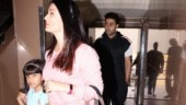 Aishwarya and Abhishek Bachchan step out on lunch date with daughter Aaradhya. See pics