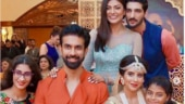 Sushmita Sen, Rohman Shawl and Renee-Alisah make for a perfect family at Rajeev Sen's sangeet. See pics