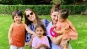Taimur Ali Khan enjoys play date with sister Inaaya and Rannvijay's daughter Kainaat in London