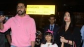 Aishwarya Rai Bachchan and Abhishek return from US holiday with daughter Aaradhya Bachchan. See pics
