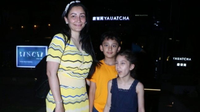 Manyata Dutt with kids. Photo: Yohen Shah