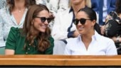 Meghan Markle and Kate Middleton make a chic pair at Wimbledon Ladies' Singles match. See pics