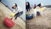 FIR actress Kavita Kaushik participates in beach clean up drive with hubby Ronit Biswas. See pics