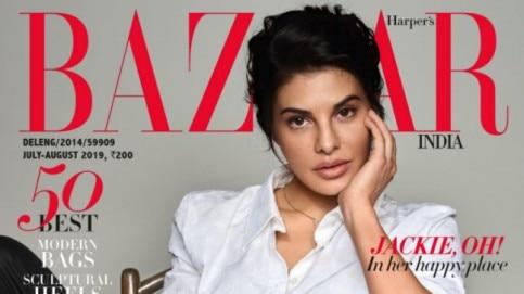 Jacqueline Fernandez on Harper's Bazaar India cover