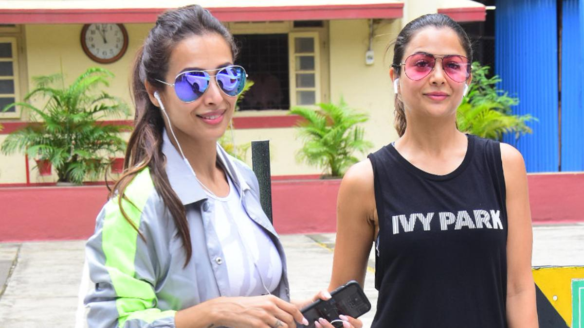 Malaika Arora and Amrita Arora at gym Photo: Yogen Shah