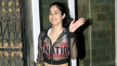 Janhvi Kapoor beats monsoon blues in sexy sheer jacket, sports bra and shorts at gym. See pics