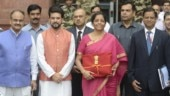 Budget 2019: Union Finance Minister Nirmala Sitharaman along with team arrives at Parliament
