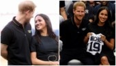New mommy Meghan Markle glows as she makes surprise appearance at baseball game with Prince Harry